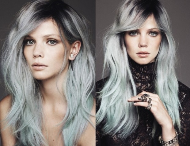 moda capelli colore grigio